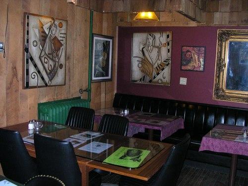 Dining corner at Players Pub