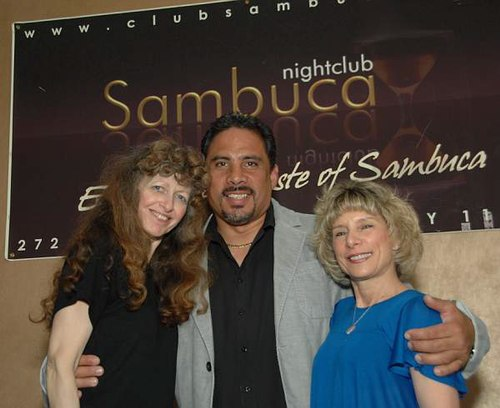 Doreen, Robert Montagnese (owner of Sambuca) and Robin Amante