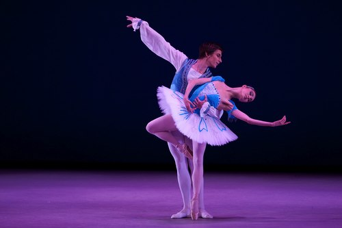 Artjom Maksakov (Estonia) and partner Olga Malinovskaya (Russia).  Both won Bronze at the 2009 New York International Ballet Competition.