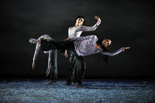 Dancers (l to r): Jessica Harris, Sara Procopio, Cecily Campbell in in Shen Wei's 'Re - (I)' at Lincoln Center Festival (Photo also courtesy of Lincoln Center)