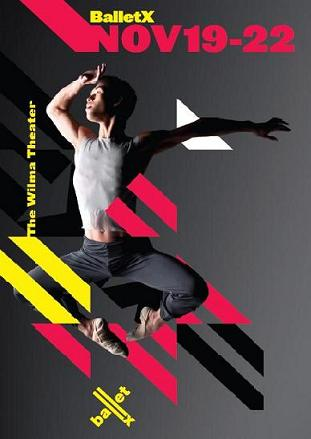 BalletX: Fall Series 2009. Preview poster image. Dancer Kevin Yee-Chan. Design: Matthew Bouloutian.