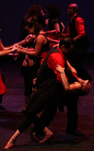 Contra-Tiempo performs a group number at the Contra-Tiempo 2010 Gala