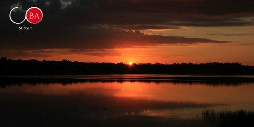 A beautiful sunset during the Coba Sunset tour