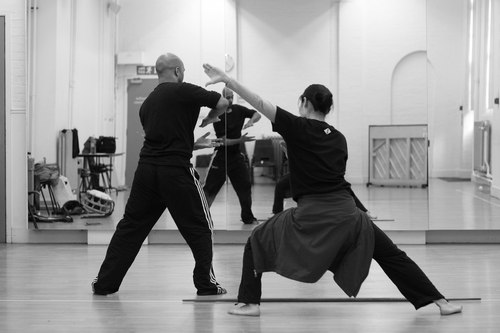 Yoshie Sunahata and Akram Khan rehearse Khan's 'Gnosis' Photo courtesy Theatre de la Ville