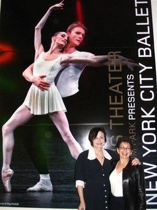 Paula and Susan at the Harris Theater